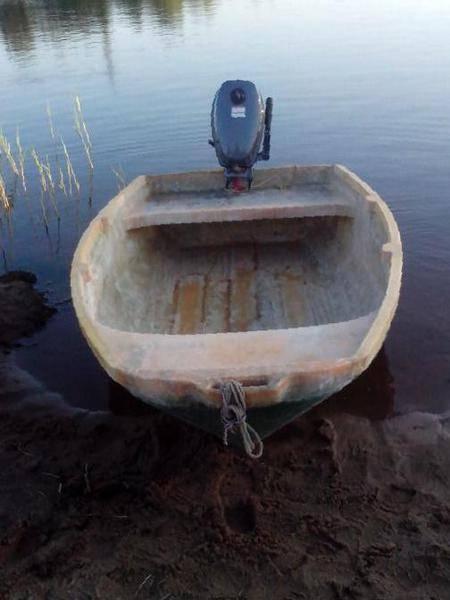 Лодка ерш стеклопластик