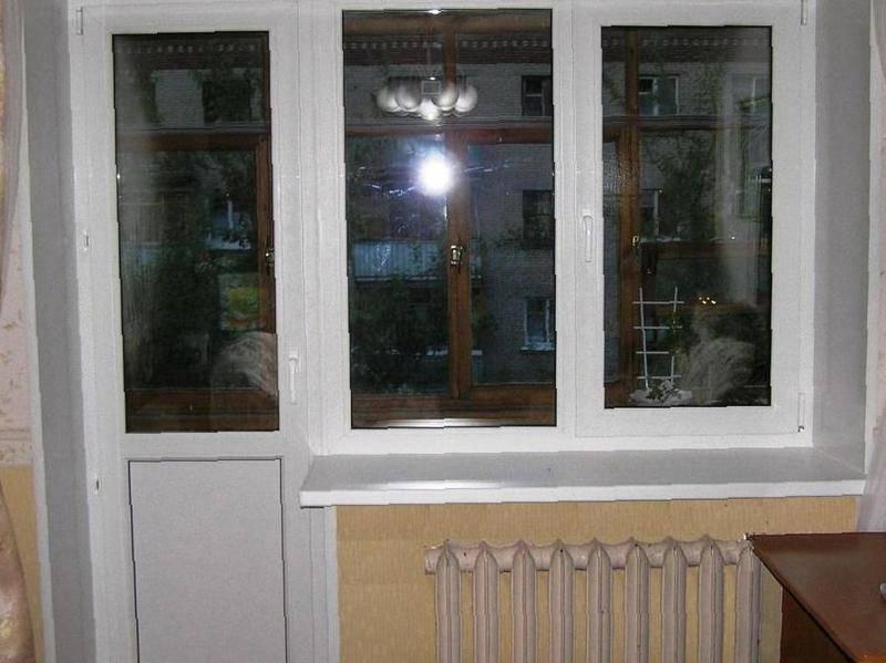 Окно с дверью в серышеве, цена 3300 руб., объявление.