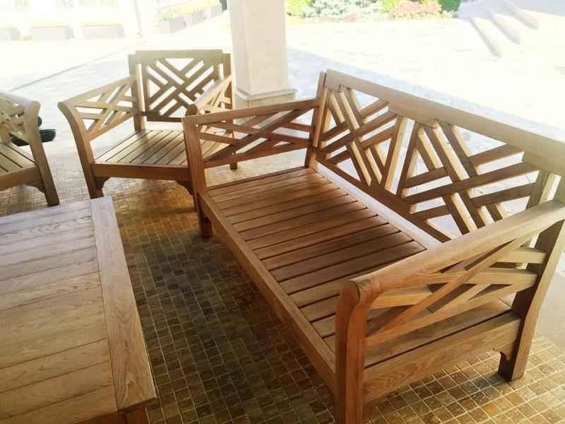 Дачная, садовая, уличная мебель из дерева, под заказ в росси.