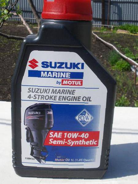 Какое масло для лодочного мотора сузуки